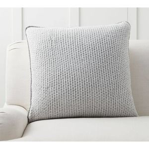 Pottery Barn Thermal Sherpa Back Pillow Cover NEW